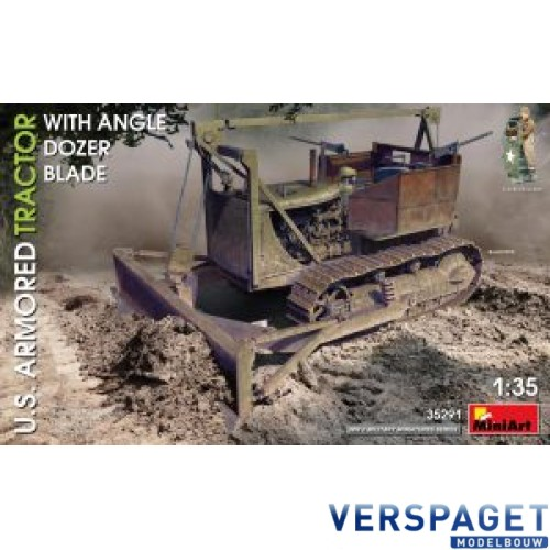 U.S. ARMORED TRACTOR WITH ANGLE DOZER BLADE -35291