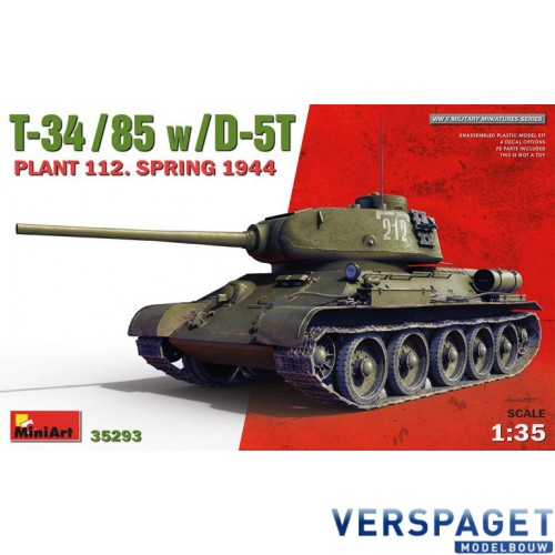 T-34/85 w/D-5T PLANT 112. SPRING 1944 -35293