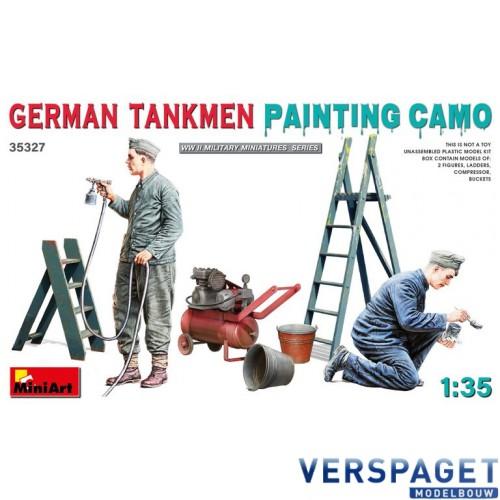 GERMAN TANKMEN CAMO PAINTING -35327