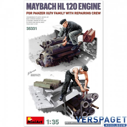 MAYBACH HL 120 ENGINE FOR PANZER III/IV FAMILY WITH REPAIR CREW -35331