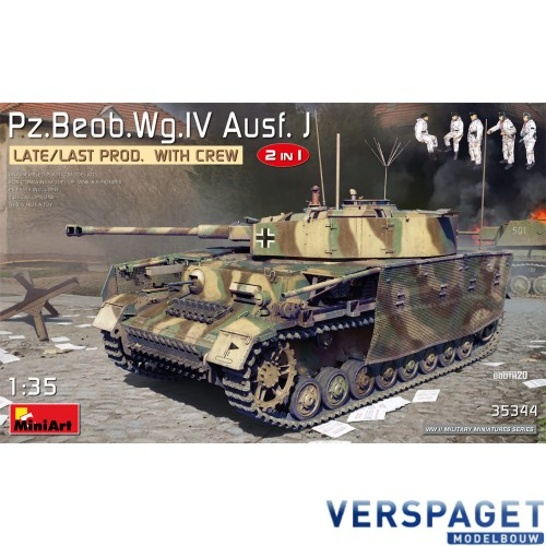 Pz.Beob.Wg.IV Ausf. J Late/Last Prod. 2in1 with Crew -35344