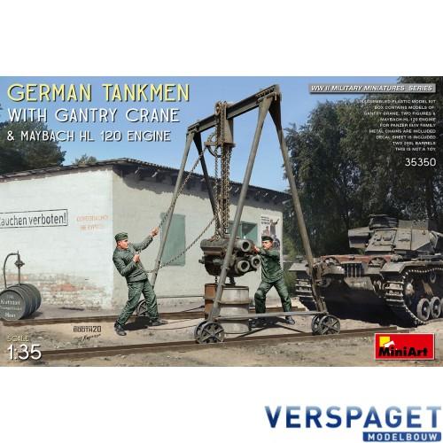German Tankmen With Gantry Crane & Maybach HL 120 Engine -35350
