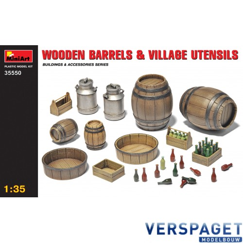 WOODEN BARRELS & VILLAGE UTENSILS -35550