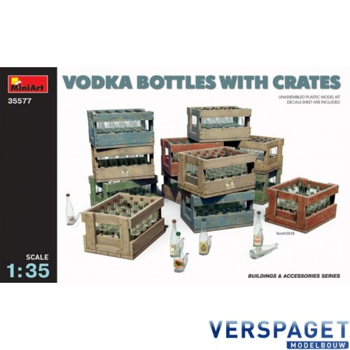 VODKA BOTTLES WITH CRATES -35577
