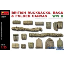 BRITISH RUCKSACKS, BAGS & FOLDED CANVAS WW2 -35599