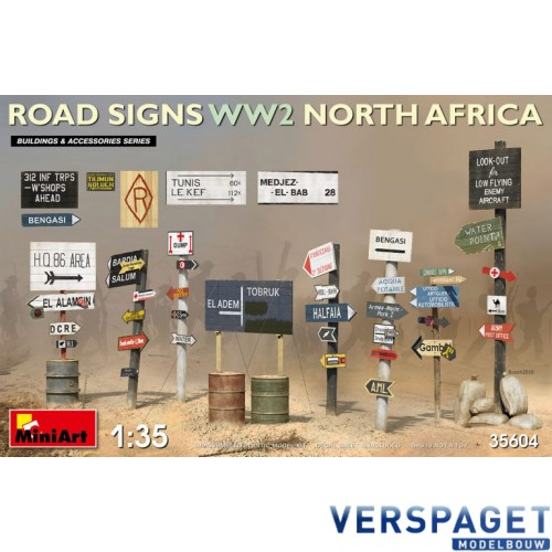 ROAD SIGNS WW2 NORTH AFRICA -35604