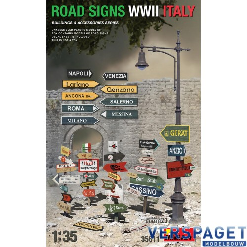 ROAD SIGNS WWII ITALY -35611