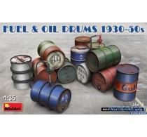 FUEL & OIL DRUMS 1930-50s -35613