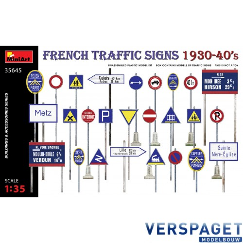 French Traffic Signs 1930-40's -35645