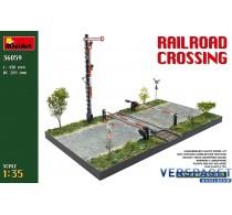 Railroad crossing  European Gauge Railway tracks -36059