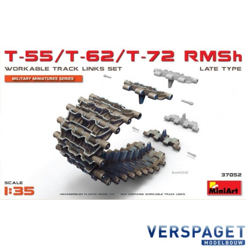 T-55/T-62/T-72 RMSh WORKABLE TRACK LINKS SET. LATE TYPE -37052