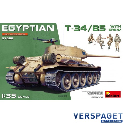 EGYPTIAN T-34/85 WITH CREW -37098