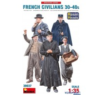 FRENCH CIVILIANS '30-'40s. RESIN HEADS -38037