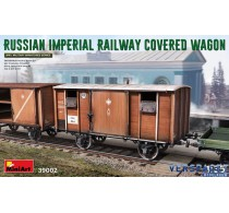 RUSSIAN IMPERIAL RAILWAY COVERED WAGON -39002