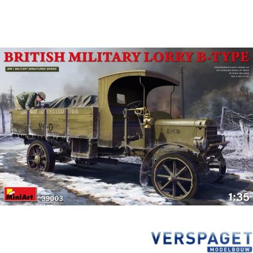 BRITISH MILITARY LORRY B-TYPE -39003