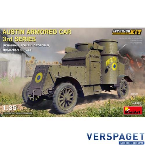 AUSTIN ARMORED CAR 3rd SERIES: UKRAINIAN, POLISH, GEORGIAN, ROMANIAN SERVICE. INTERIOR KIT -39005