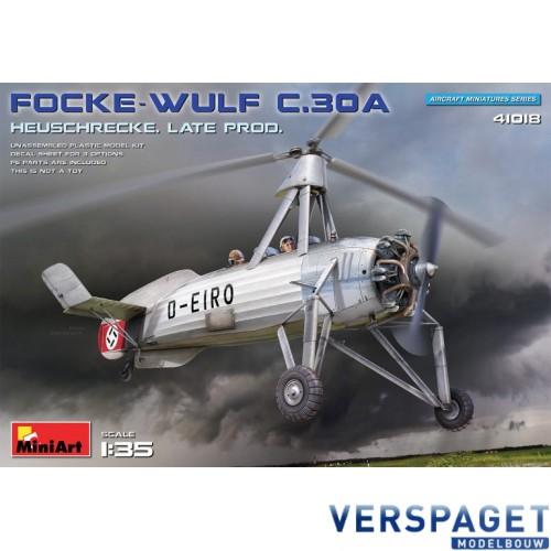 FOCKE-WULF FW C.30A HEUSCHRECKE. LATE PROD -41018