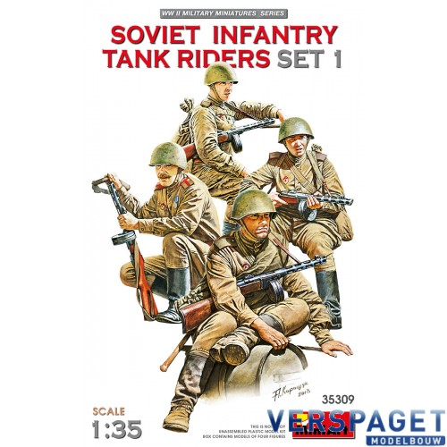 SOVIET INFANTRY TANK RIDERS SET 1 -35309