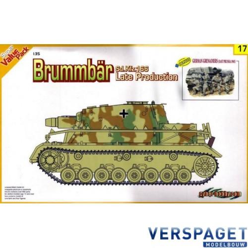 Brummbär Sd.Kfz.166 Late Production + Bonus German Grenadiers (East Prussia 1945) -9117