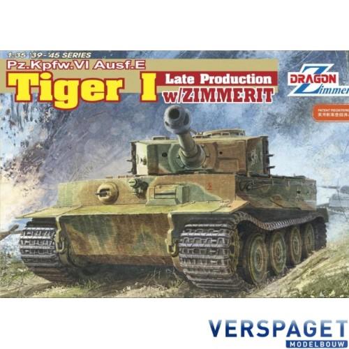 Pz.Kpfw.VI Ausf.E Tiger I Late Production w/ ZIMMERIT -6383