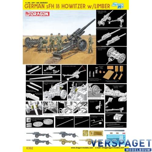 German sFH18 Howitzer w/Limber -6392