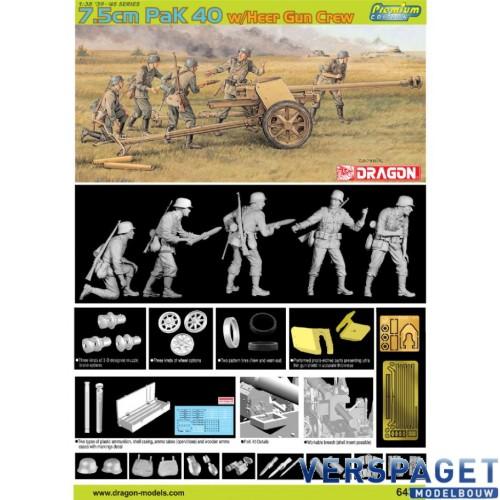 7.5cm Pak 40 w/Heer Gun Crew -6433