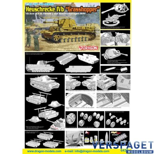 "Heuschrecke IVb ""Grasshopper"" 10.5cm le.F.H.18/6(Sf.) Auf Geschuetzwagen III/IV-6439"