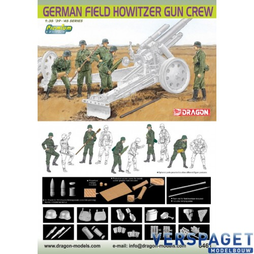German Field Howitzer Gun Crew -6461