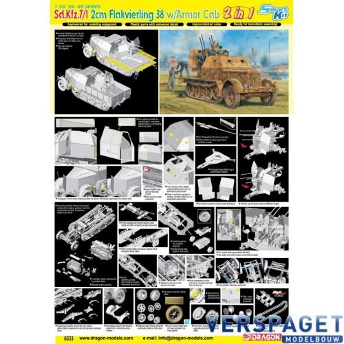 Sd.Kfz.7/1 2cm Flakvierling 38 w/Armor Cab -6533