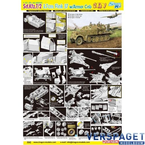 Sd.Kfz.7/2 3.7cm Flak 37 w/Armor Cab -6542