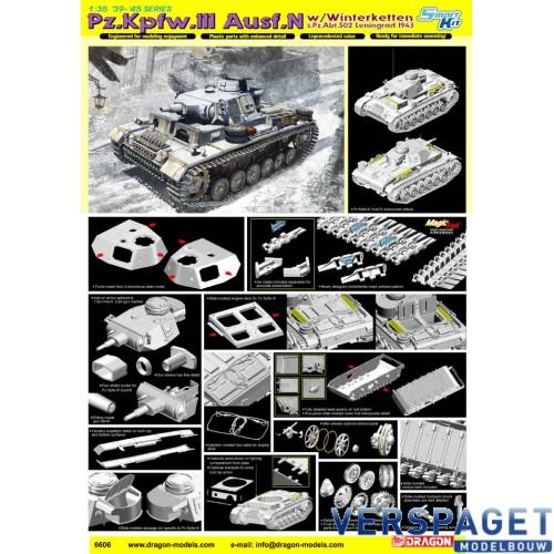 Pz.Kpfw.III Ausf.N w/Winterketten s.Pz.Abt.502 Leningrad 1943 -6606