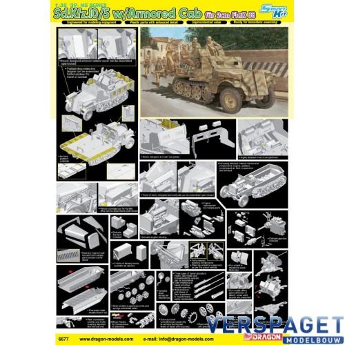 Sd.Kfz.10/5 w/Armored Cab für 2cm FlaK 38 -6677