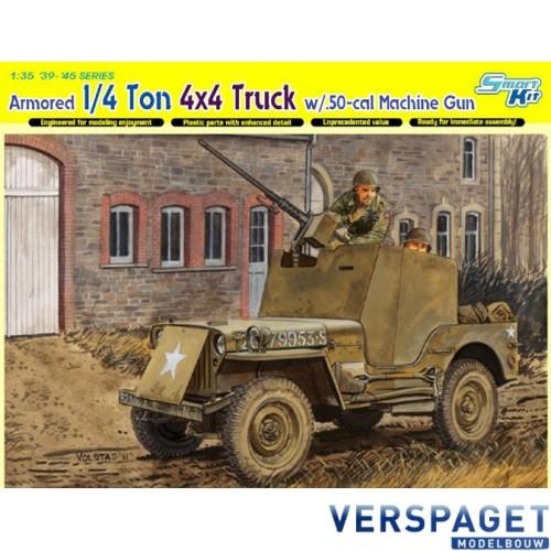 1/4 Ton Armored 4x4 Truck W/.50-Cal Machine Gun