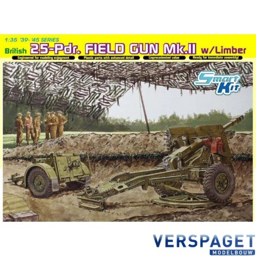 British 25-Pdr. Field Gun Mk.II w/Limber-6774