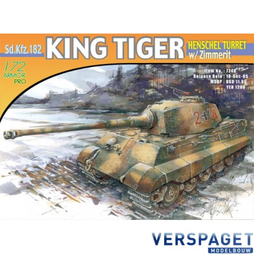 Sd.Kfz.182 Kingtiger Henschel Turret w/Zimmerit -7240