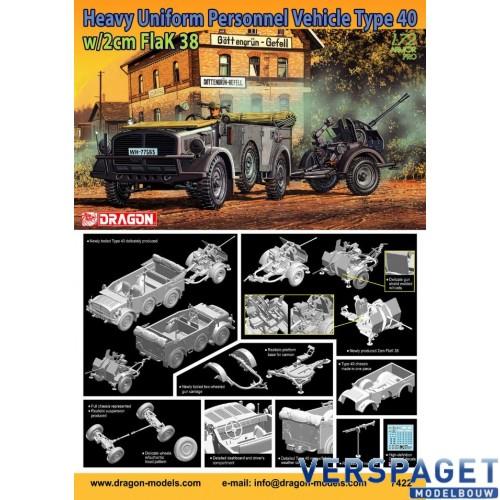 Heavy Uniform Personnel Vehicle Type 40 + 2cm FlaK 38-7422