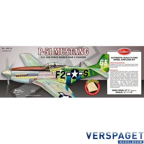 North American P-51 Mustang (Laser Cut) 402LC