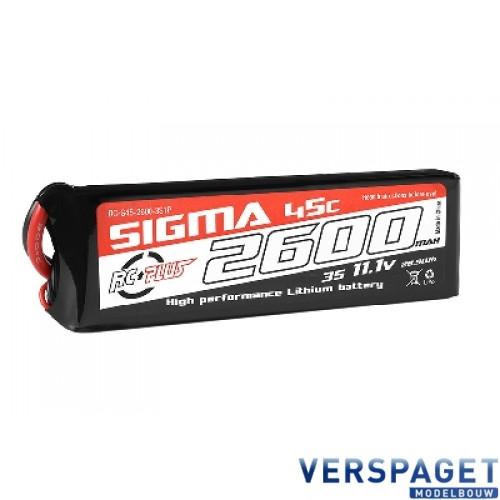 Sigma Lipo accu 11,1 Volt 2600 Mah XT60 -RC-G45-2600-3s1p