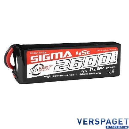 Sigma Lipo accu 14,8 Volt 2600 Mah XT60 -RC-G45-2600-4s1p