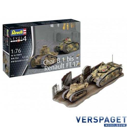 Char B1 bis & Renault FT-17 -03278