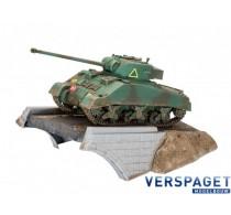 First Diorama Set - Sherman Firefly & Lijm & Verf & Penseeltje -03299