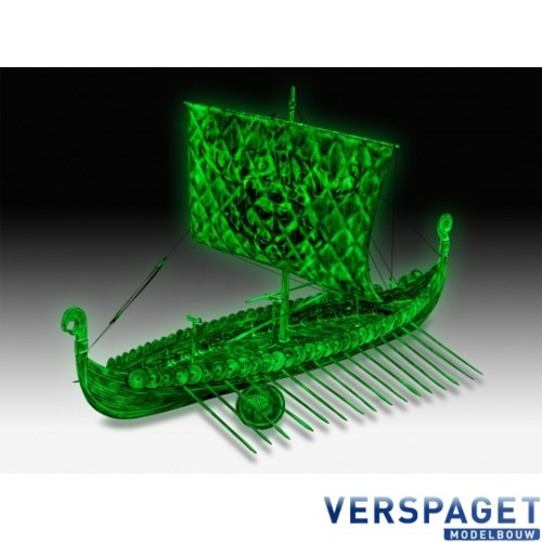 Viking Ghost Ship & Glow In The Dark Verf & Penseeltje & Lijm