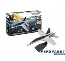 Maverick's F/A-18 Hornet 'Top Gun: Maverick' easy-click Model Set -64965