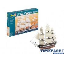 USS Constitution Model Set & Verf & Lijm & Penseeltje -65472