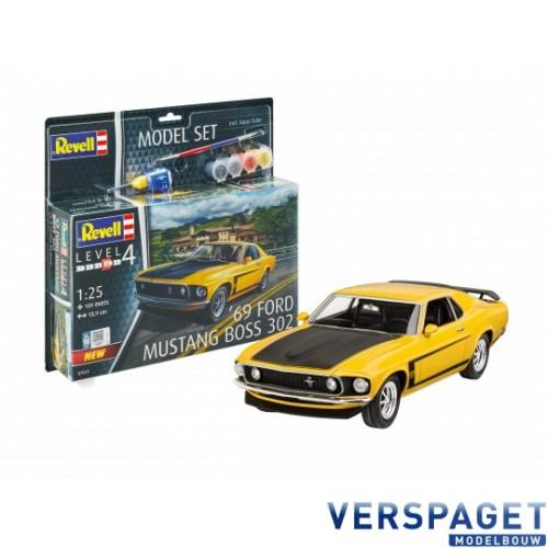 1969 Ford Mustang Boss  & Lijm & Verf & Penseeltje  -67025