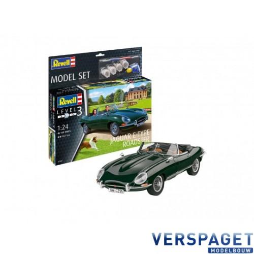 Jaguar E-Type Roadster & Verf & Lijm & Penseeltje -67687