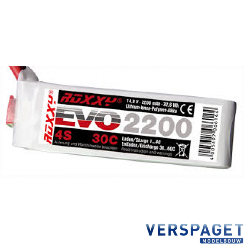 Roxxy EVO Power Lipo 4S 2200 Mah