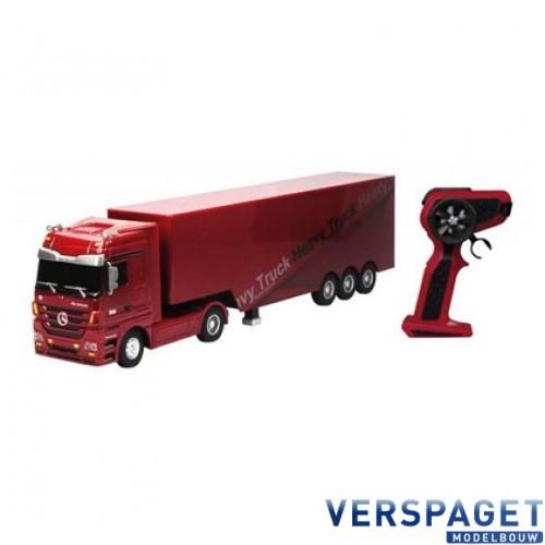 Mercedes-Benz Actros Heavy Truck Trailer 1:32 Rood  2.4 GHz -50080