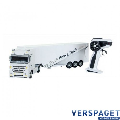 Mercedes-Benz Actros Heavy Truck Trailer 1:32 Wit 2.4 GHz -50090