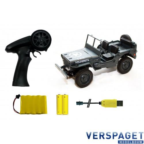 1/12 Miltary Jeep Grijs -50370